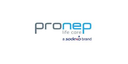 Logotipo com o texto Pronep life care a sodexo brand