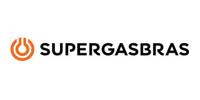 Logotipo com o texto Supergasbras