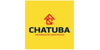 Logotipo com o desenho de uma casa e sob ela os textos Chatuba Materiais de Construção