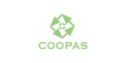 Logotipo com o texto Coopas
