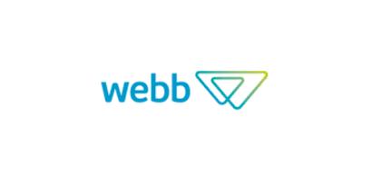 Logotipo com o texto webb